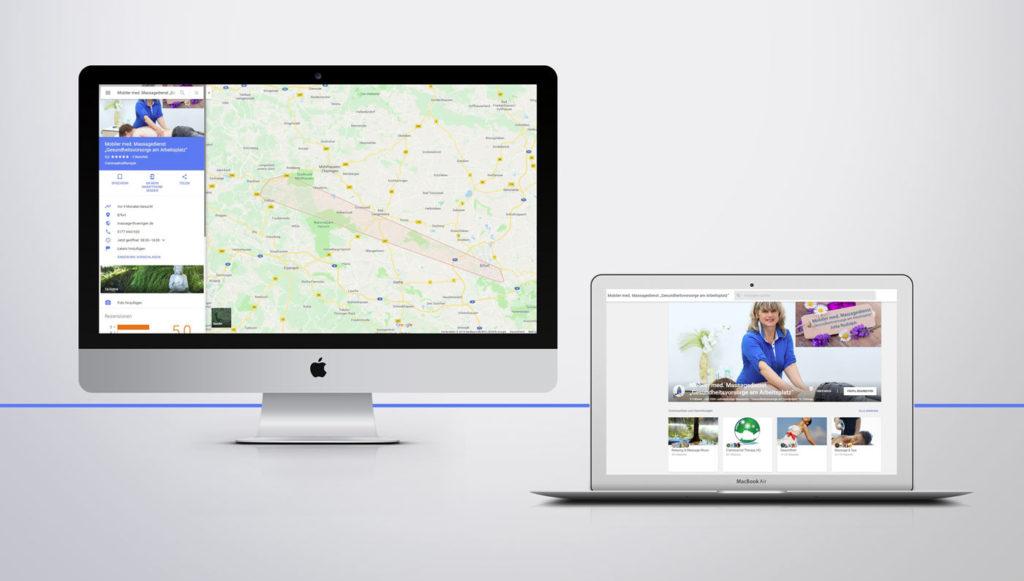 Google+ Profil und Google Maps Eintrag