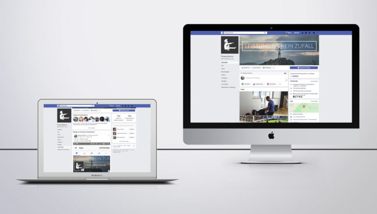 Facebookseite mit Facebook Posts