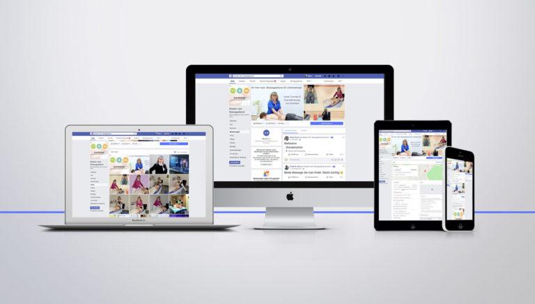 Facebook Profil mit Facebook Beiträgen