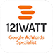 Google AdWords Siegel von 121 Watt