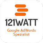 Google AdWords Siegel von 121 Watt