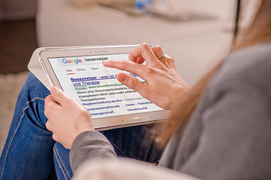 """Google AdWords Anzeige - zum Keyword """"Besenreiser"""""""