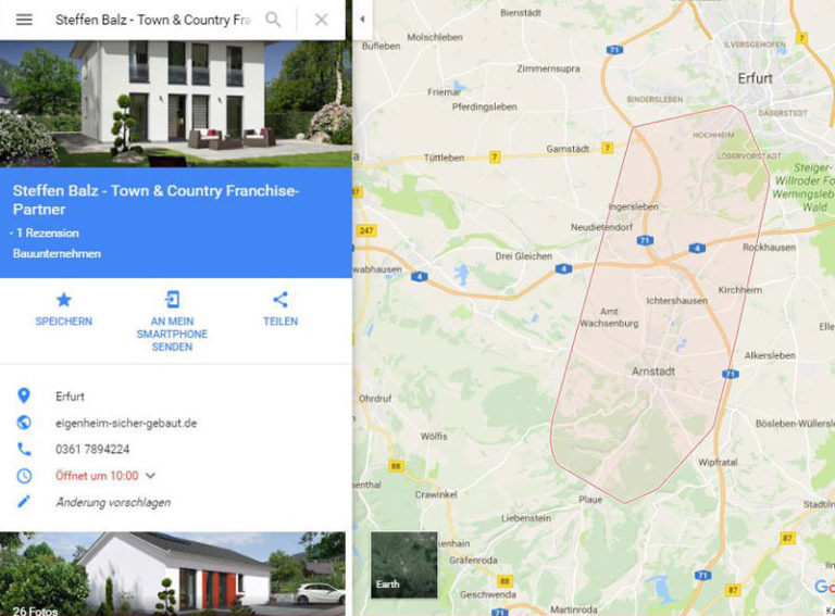 Google Maps Eintrag der OnlineMarketing Heads