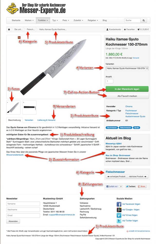 """""""perfekte"""" Produktdetailseite - 14 Tipps für mehr Umsatz"""