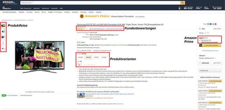 Amazon Benutzerfreundlichkei