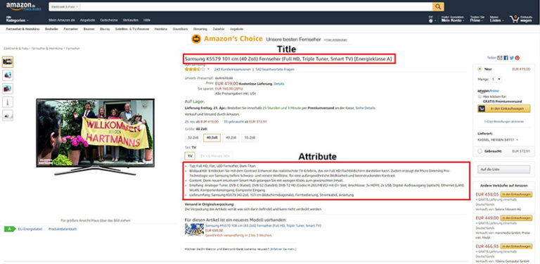 Amazon SEO - Title und Bullet Points