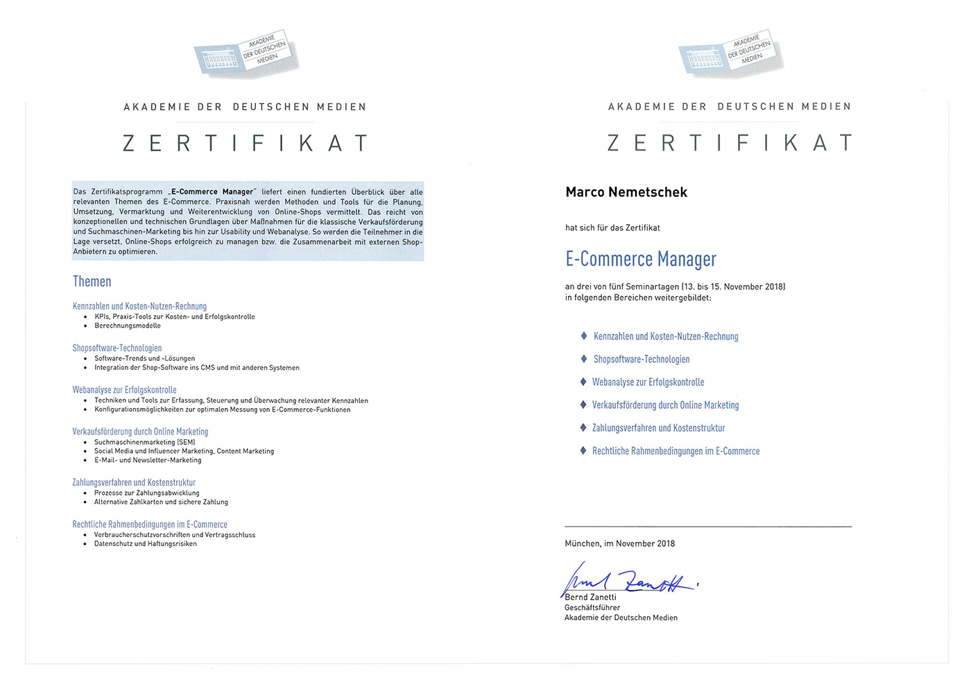 E-Commerce Manager - Marco Nemetschek