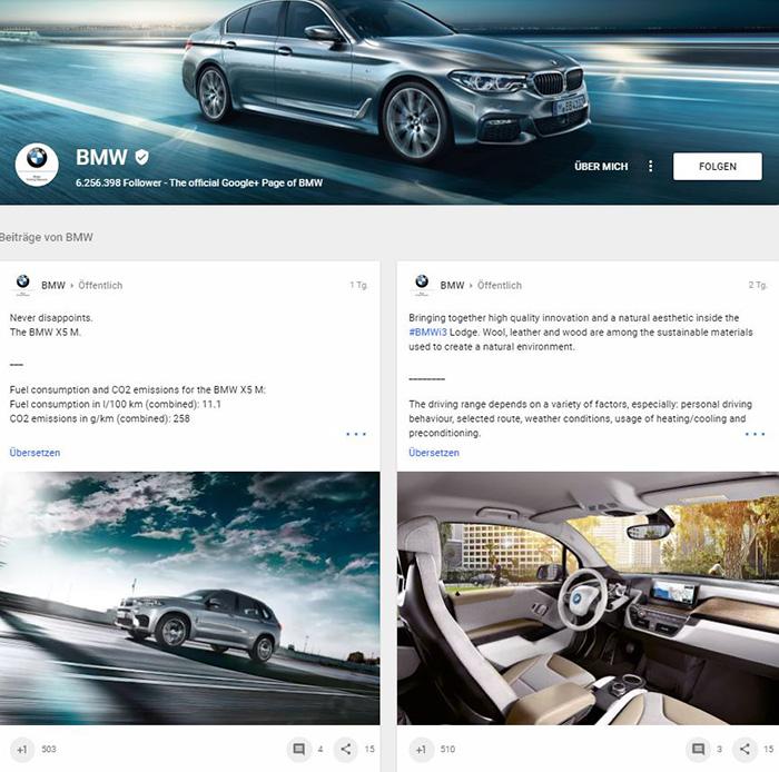 Google+ Profil - BMW