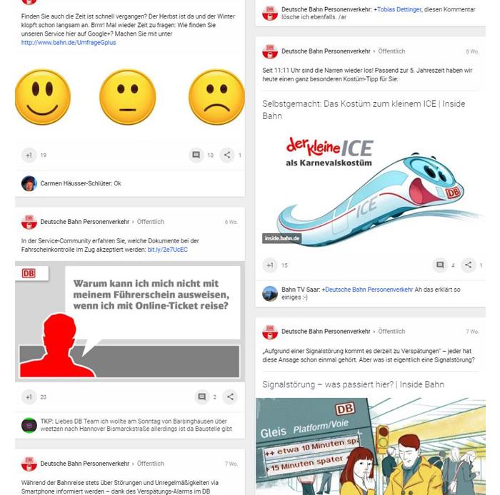 Google+ Profil - Deutsche Bahn