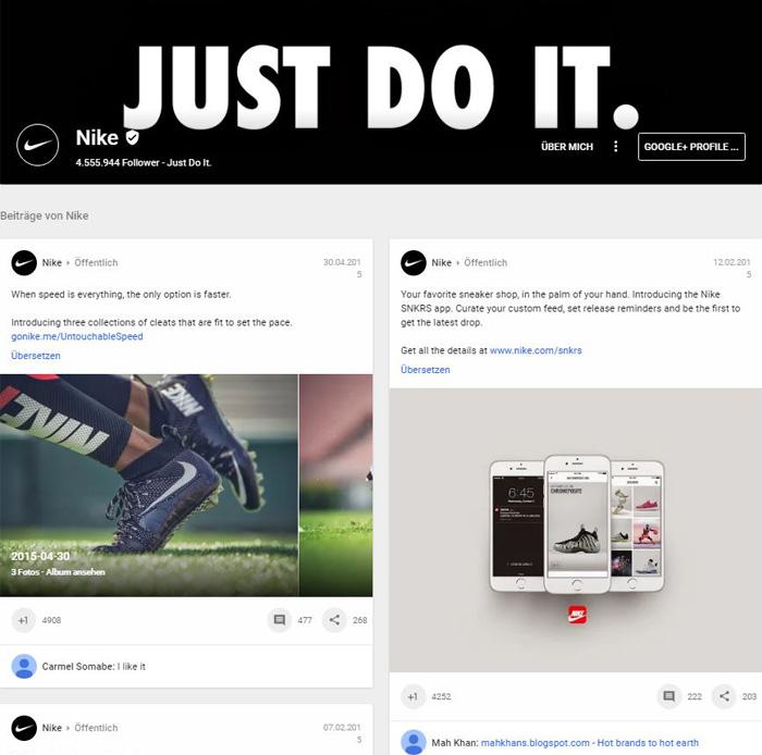 Google+ Profil - Nike