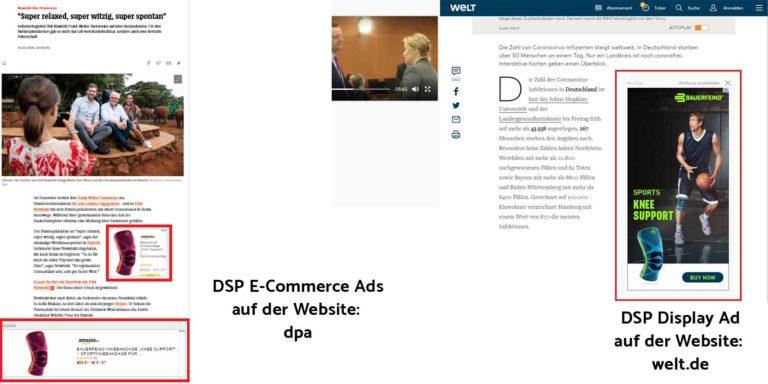 E-Commerce Ads, Display Ads oder Display Videos Ads auf Drittplattformen