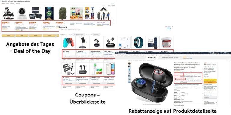 Amazon - Tagesangebote (Deal of the Days), Blitzangebote oder Coupon Aktionen