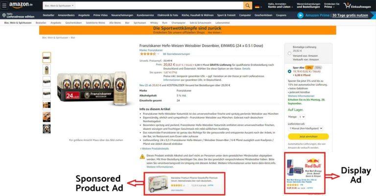 Display Ads auf Amazon