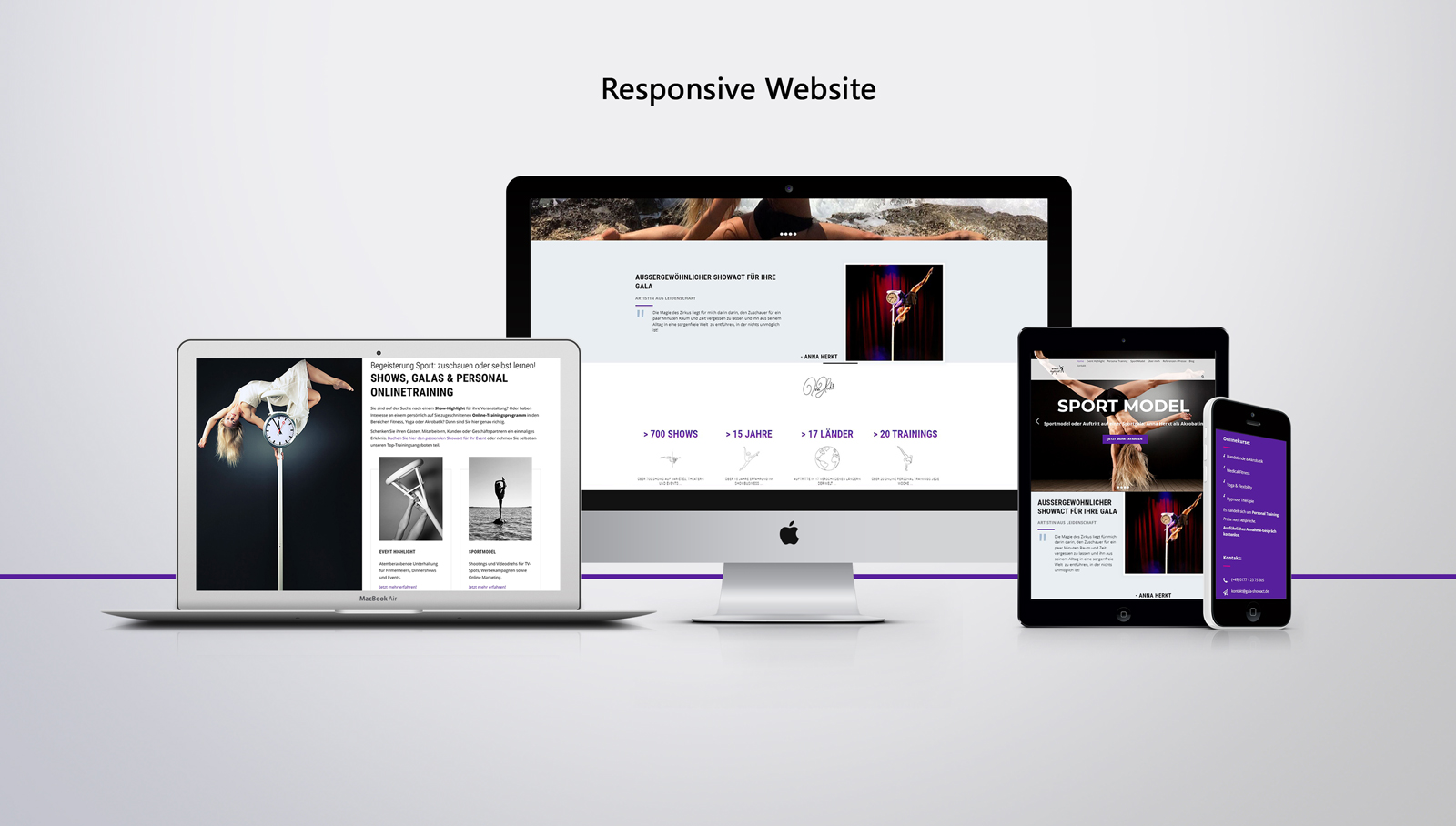 Responsive Website mit WordPress mit modernem Webdesign