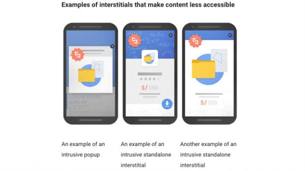 Beispiel Interstitials von Google