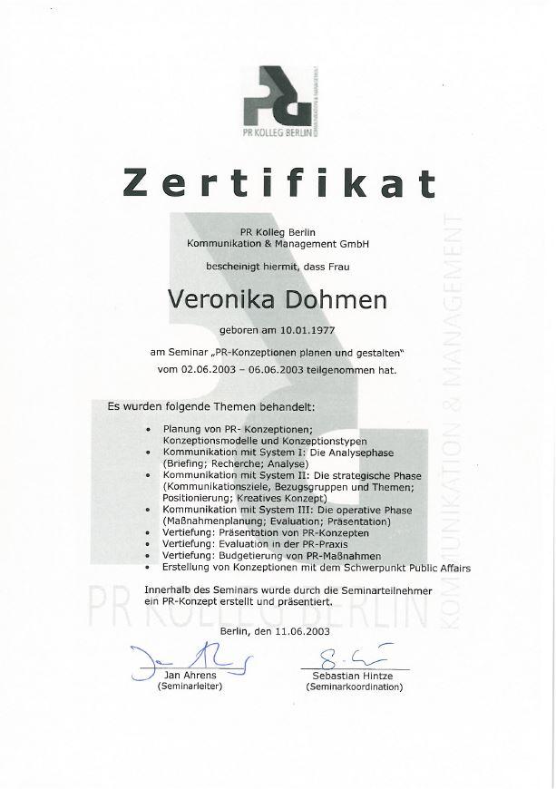 PR-Konzeptionen planen und gestalten Zertifikat
