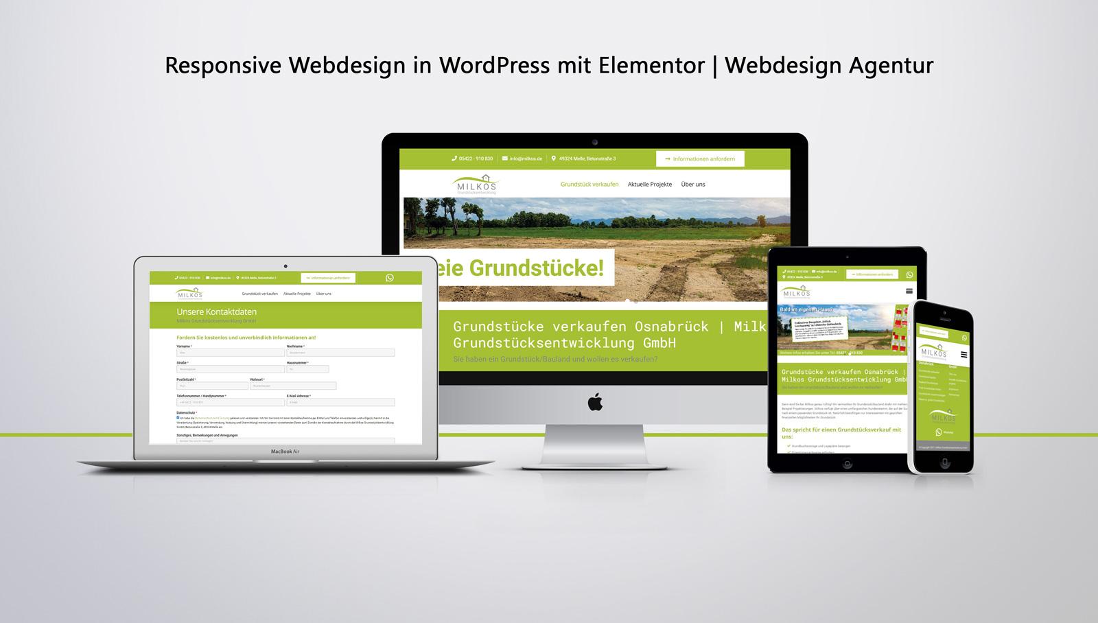 Responsive Website mit WordPress   Webdesign Agentur