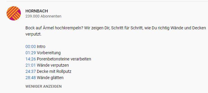 YouTube Hornbach