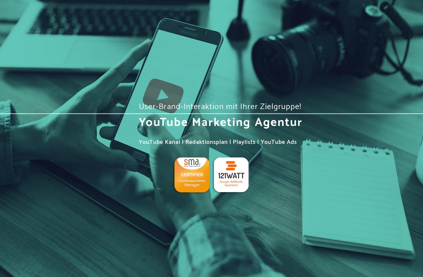 YouTube Marketing Agentur - YouTube Channel & YouTube Ads erstellen