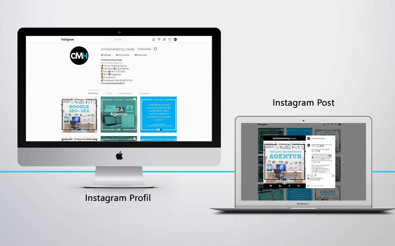 Instagram Profil inkl. Postplan in der SEO & SEA Branche